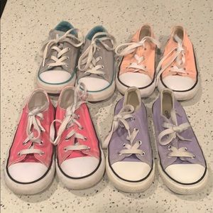 Lot of Girls  Toddler Converse size 10
